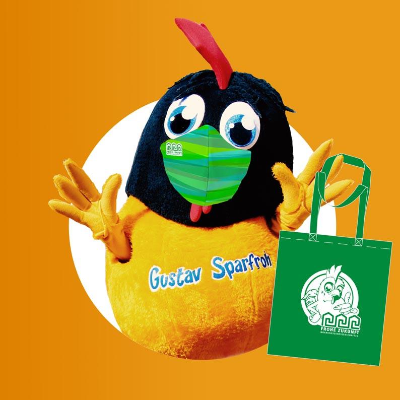 Willkommen auf meinem Blog   Das Maskottchen der FZWG: Gustav Sparfroh