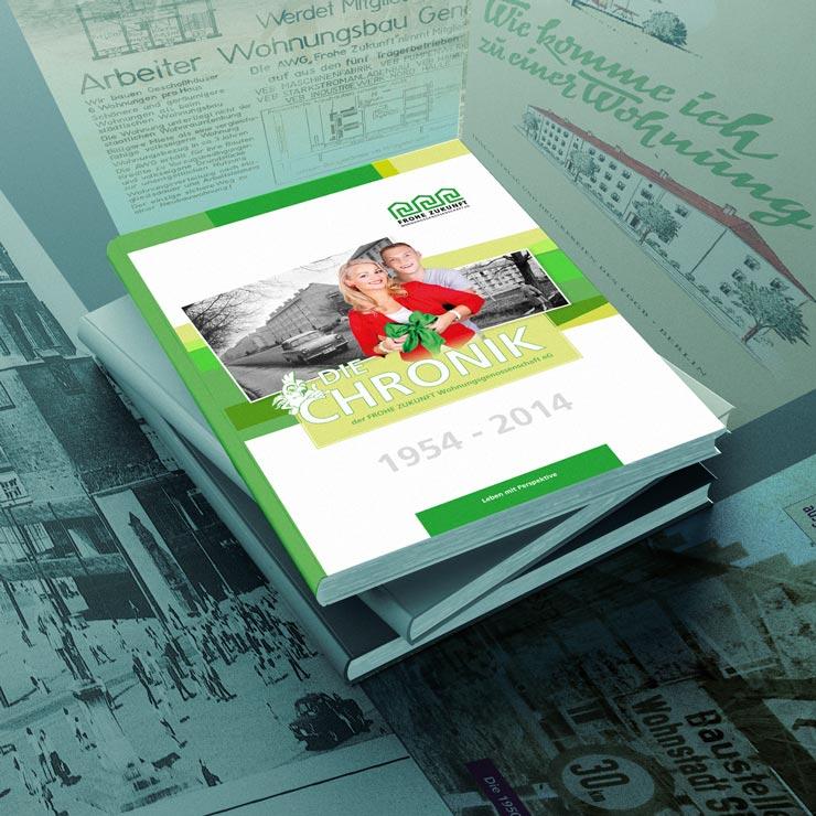 Willkommen auf meinem Blog   Zum Corporate Design zählte u. a. eine Chronik und diverse andere Printmedien.