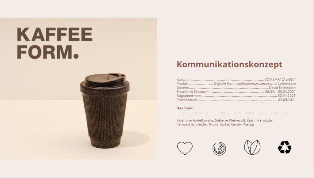 Modul 1: Projektarbeit KAFFEEFORM