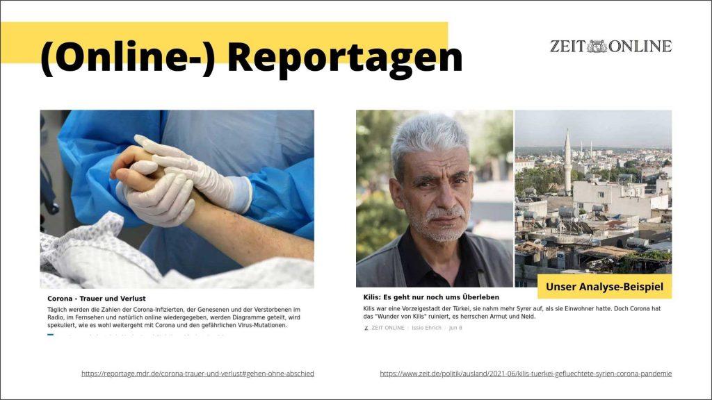 Modul 3: Projektarbeit (Online-)Reportagen