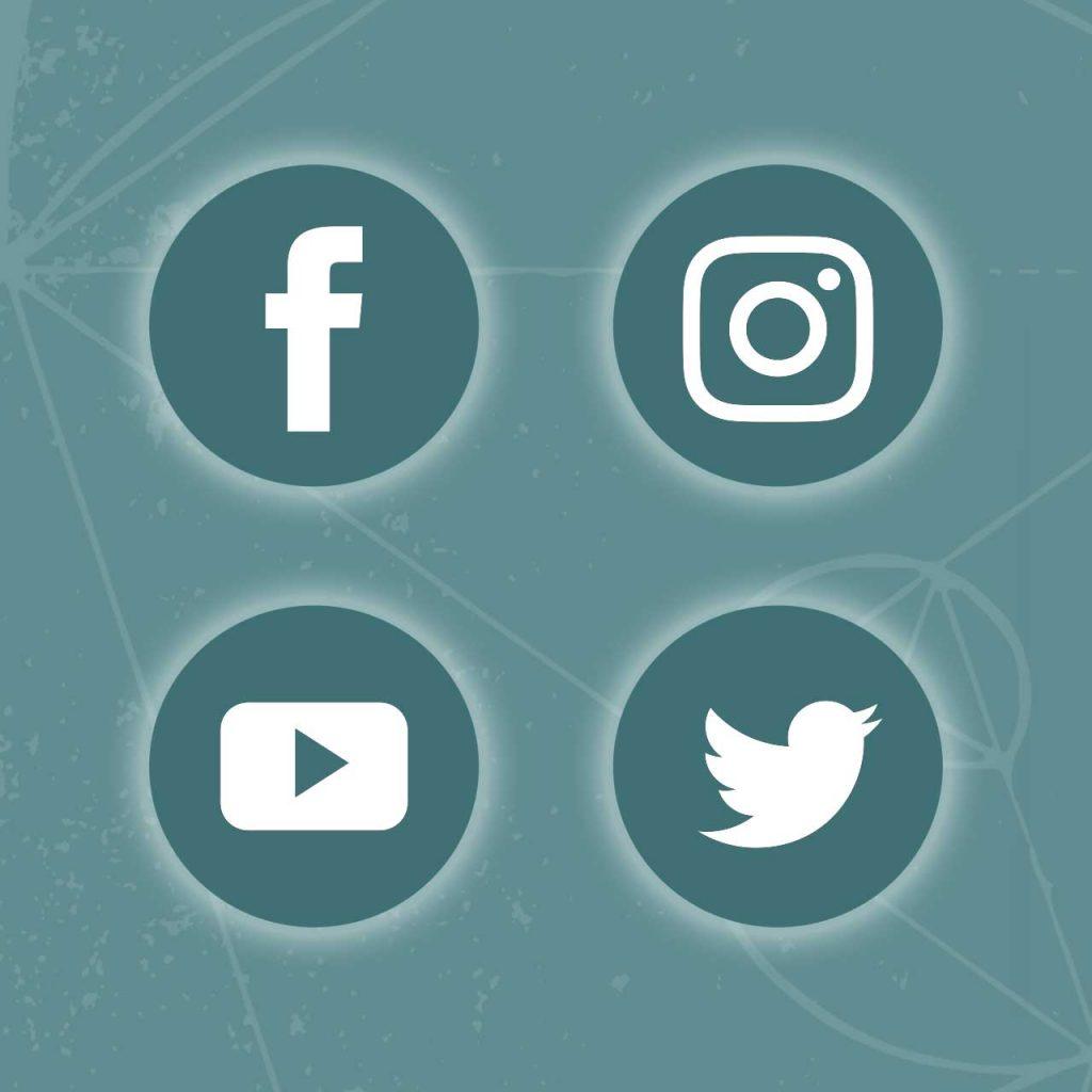 Social Media Icons (Facebook, Instagram, Twitter, YouTube)