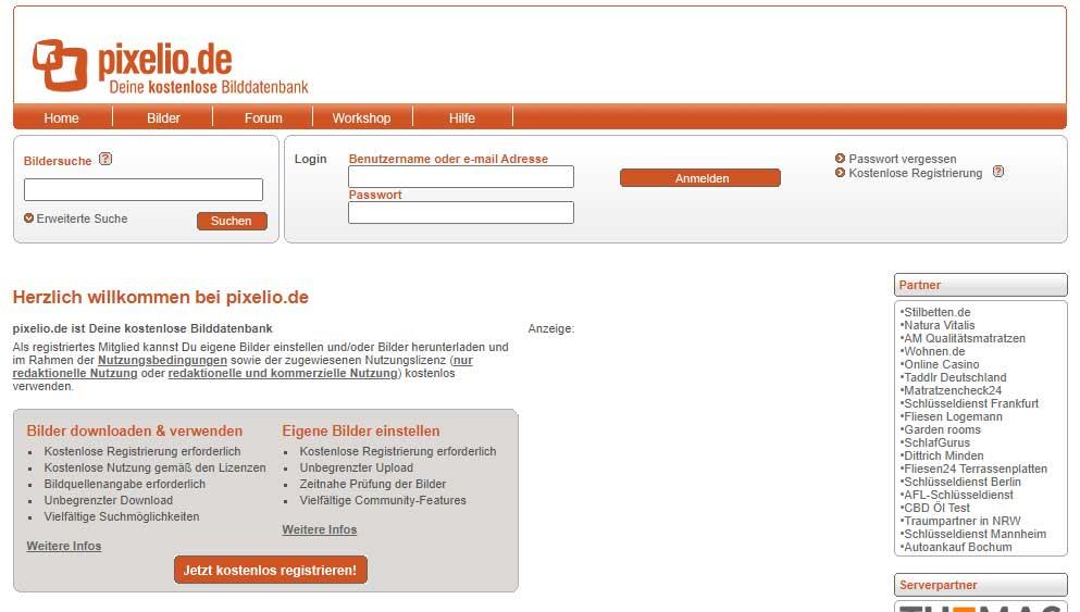 Bilderdatenbank Pixelio